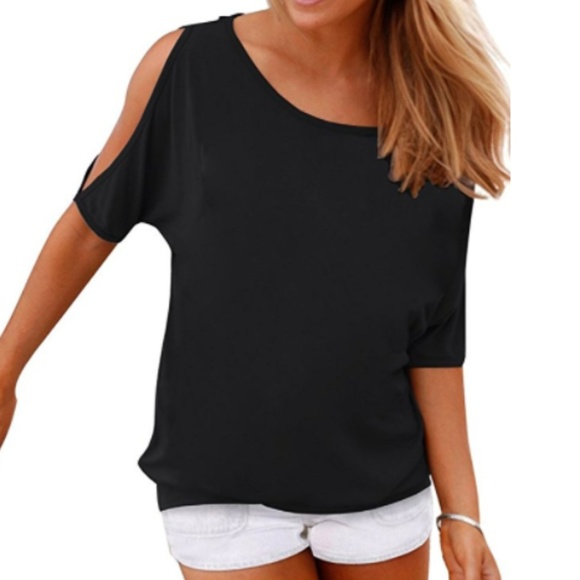26270a5ed69340 Women s Summer Casual Cold Shoulder T Shirt